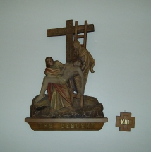 Station of the cross, the descent